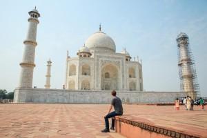 Mark Zukerberg with Taj Mahal